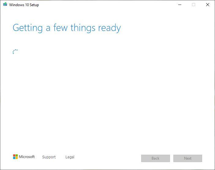 نصب نسخه رسمی ویندوز 10