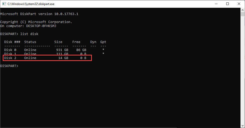نحوده کار با diskpart برای نصب ویندوز با فلش درایو