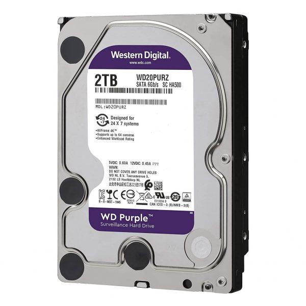 هارد ویژه دوربین هارد دیسک اینترنال WD Purple Surveillance Hard Drive 2TB